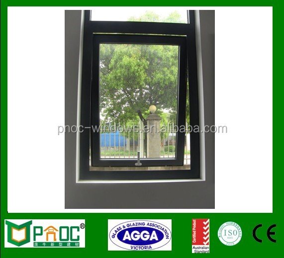 French Style Wood Grain Finished Aluminium Top Hung Window/ Window Desisgns For Container Homes