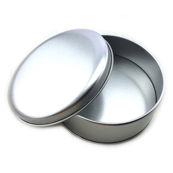 Round sliver empty aluminum tin can for candle