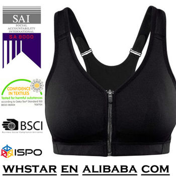 Sturdy sports bra in fast-drying functional fabric