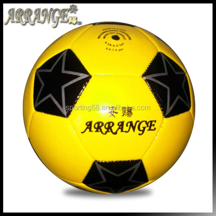 Small Soccer size three ACFB0147P3170 Yellow PVC foam mini students football ball