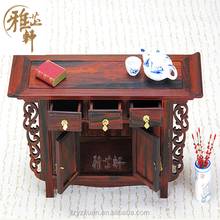 2016 Fashion Chinese Antique Wood Carving Miniature Furniture Model Ornaments Crafts For Home Decoration