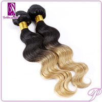 Original Unprocessed Indian Hair Weave Body Wave Wholesale Virgin Indian Human Hair 1B 27 ombre color human hair weft