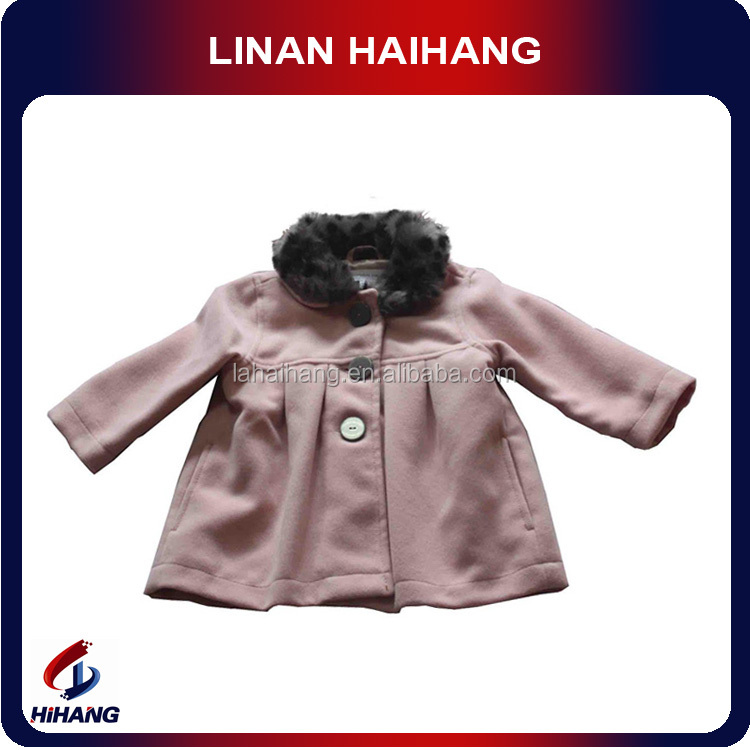 fur collar pleat cute winter jackets for girls