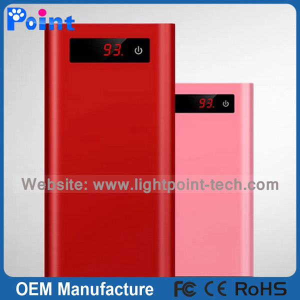 High quality portable power bank with screen display