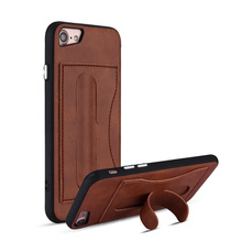 Wholesales kickstand phone case with card holder for apple iphone 8,card slots case for iphone 8,for iphone 8 card holder case