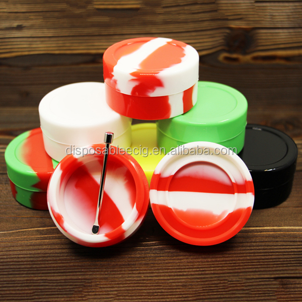 Non-Stick Essential Oil Container 22ml Large Silicone BHO Wax Container