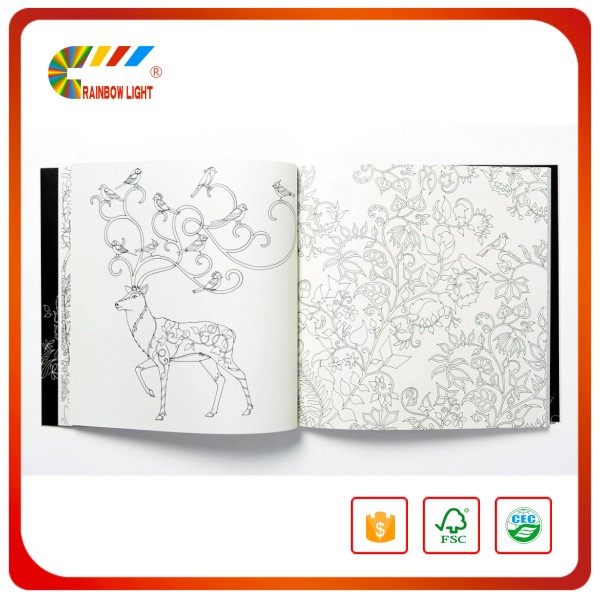 China custom design print drawing books for kids children