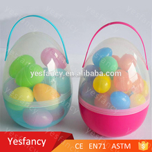 best sale large easter basket clear plastic easter egg with toys inside