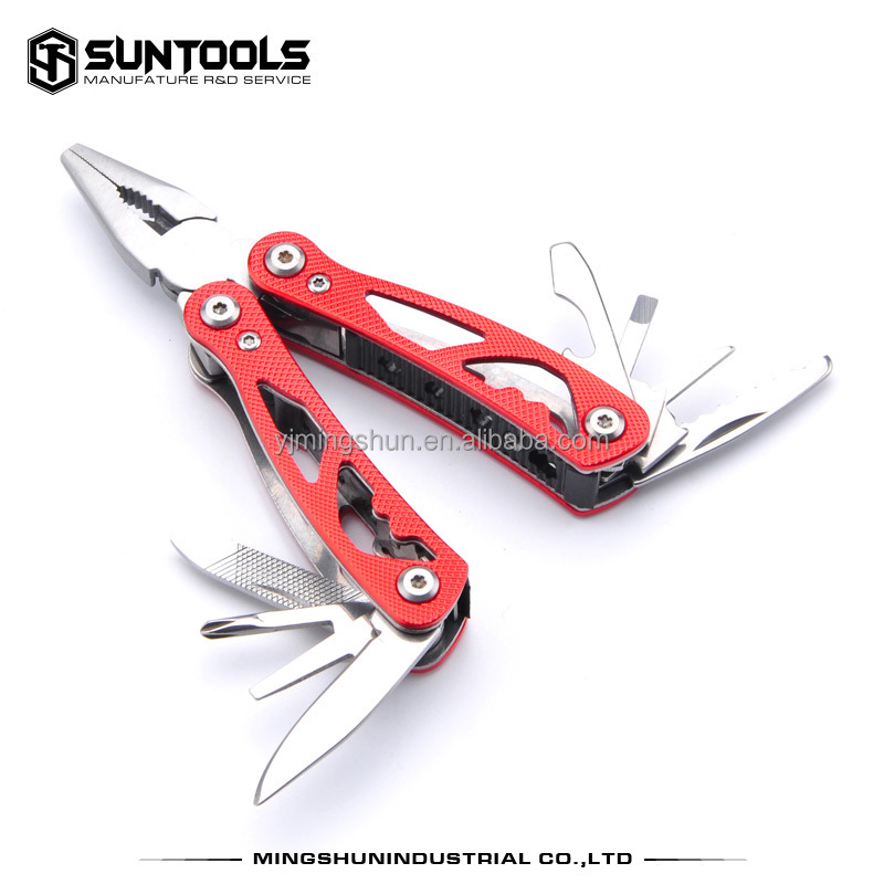 small quantity aluminum black oxidized surface pliers multitool