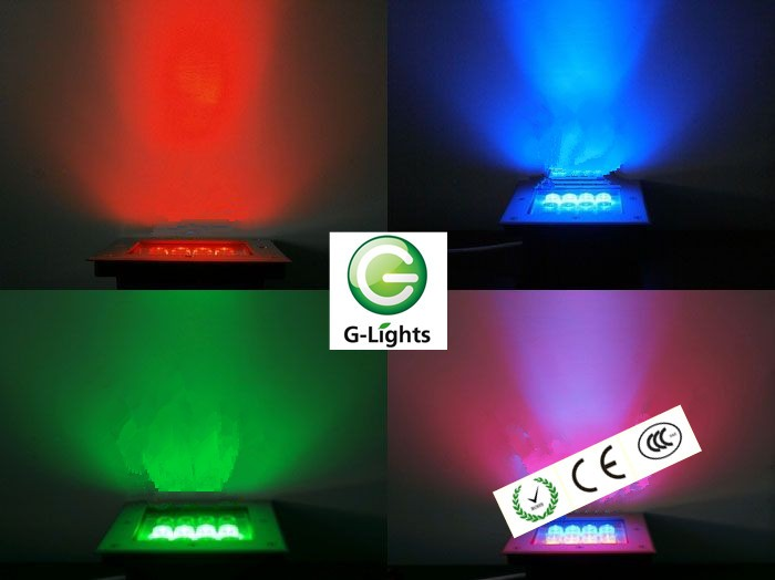 9W Aluminum underground light RGB LED Underfloor Light