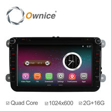 Ownice HD 1024*600 Pure Android 4.4.2 Quad Core car audio navigation system for vw Capacitive Screen