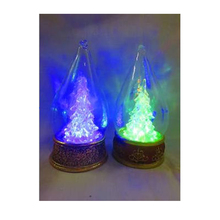 Christmas tree with LED lighting and glass cone