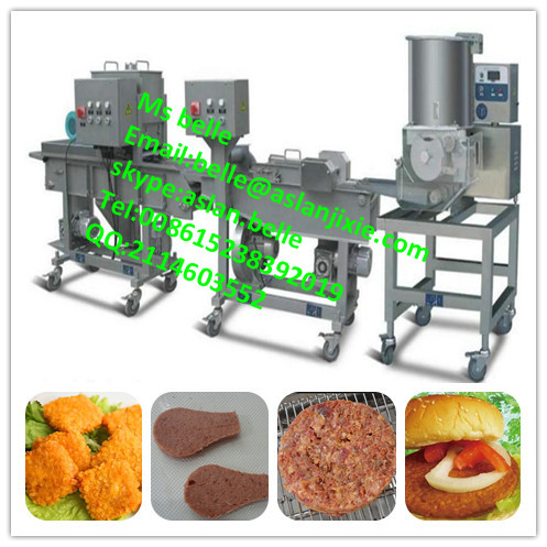 automatic burger patty beef processing line/burger patty beef making machine