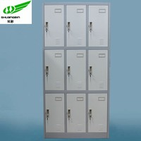 High quality with cheap price steel 9 door school lockers for sale