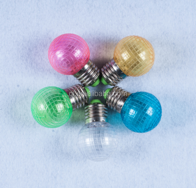 1w decoration colorful e27 led bulb P3 7 SMD