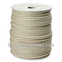 cotton rope/cotton 3-strand rope