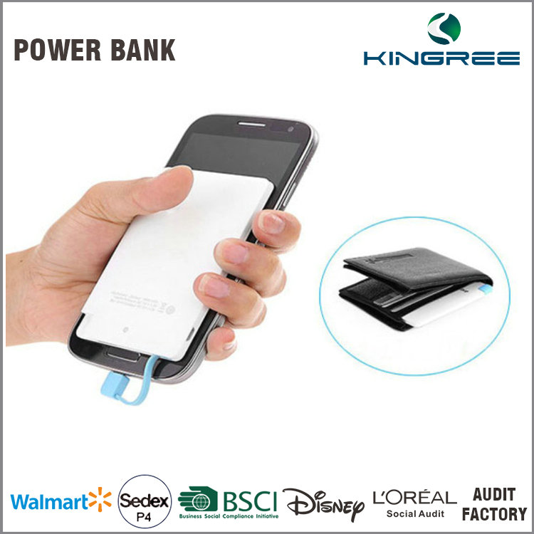 Universal Mobile Phone Charger super slim credit card power bank
