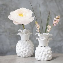 Adorable Pineapple Ceramic Floral Chic Vase in White