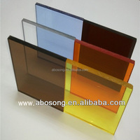 Glow Acrylics plastic sheet / PMMA sheet new sign board / color 10mm acrylic perspex sheet