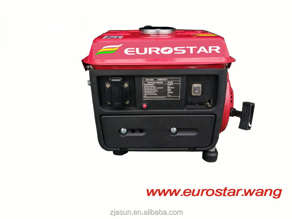 EUROSTAR 950 gasoline power generator set, 950 dc portable price Mini Generator
