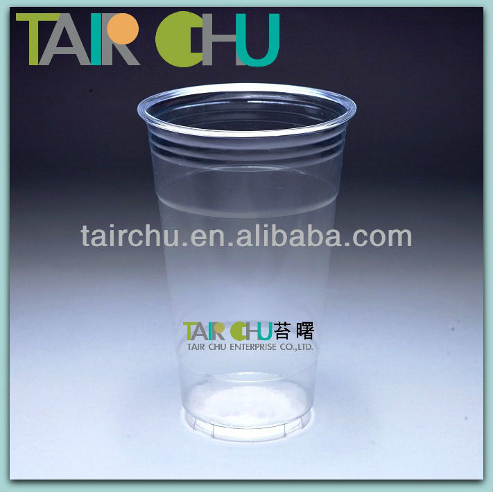 ISO22000 & HACCP Certified Clear PET Plastic Bubble Tea Cup