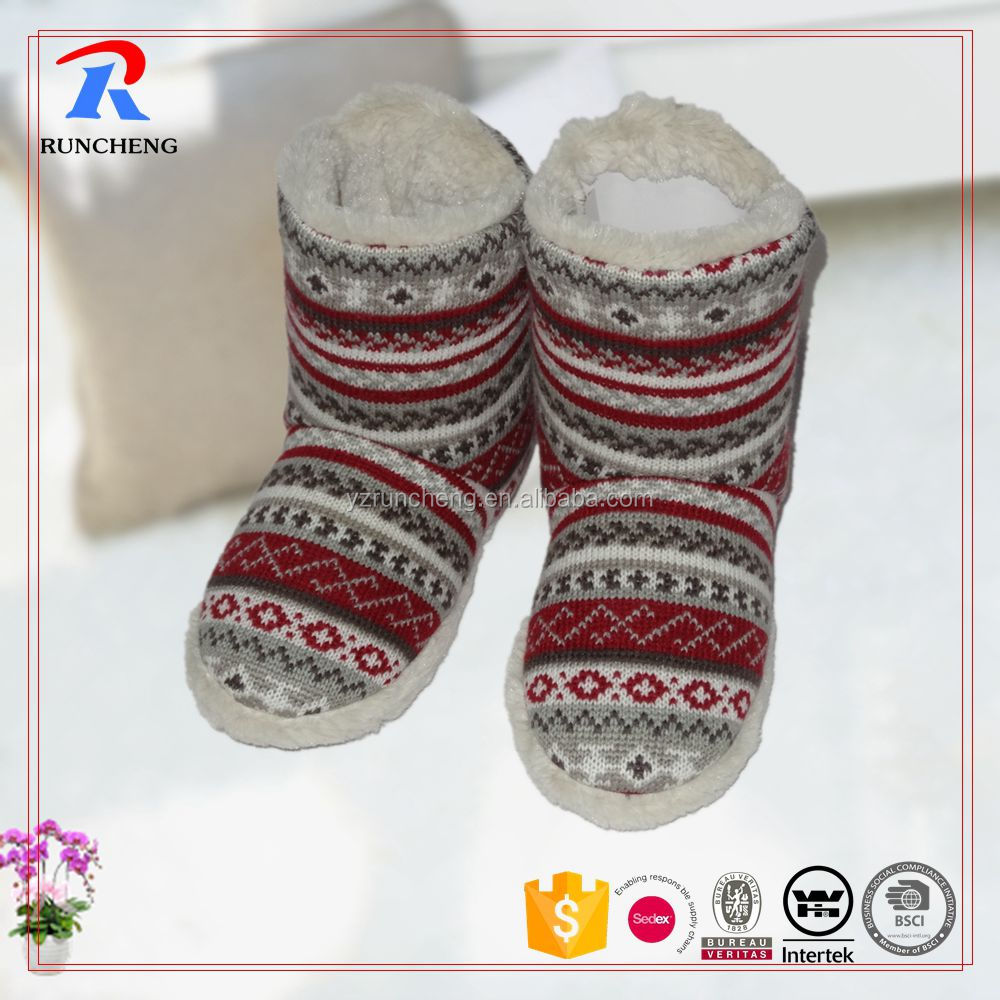 knitted fabric women boots shoes