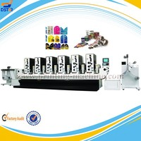 DX-J06 6 color intermittent automatic letterpress beer and wine bottle label printing machine from Dstar Machine