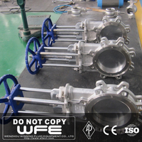 Stainless Steel 304 Knife Stem With Pneumatic Gate Valve