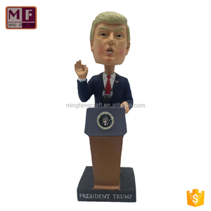 Hotsale Resin Personalized Famous Star Donald John Trump Bobble Head