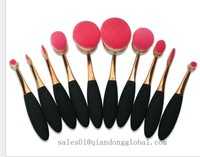nylon oval toothbrush shape make up brush for cosmetic and foundation brush