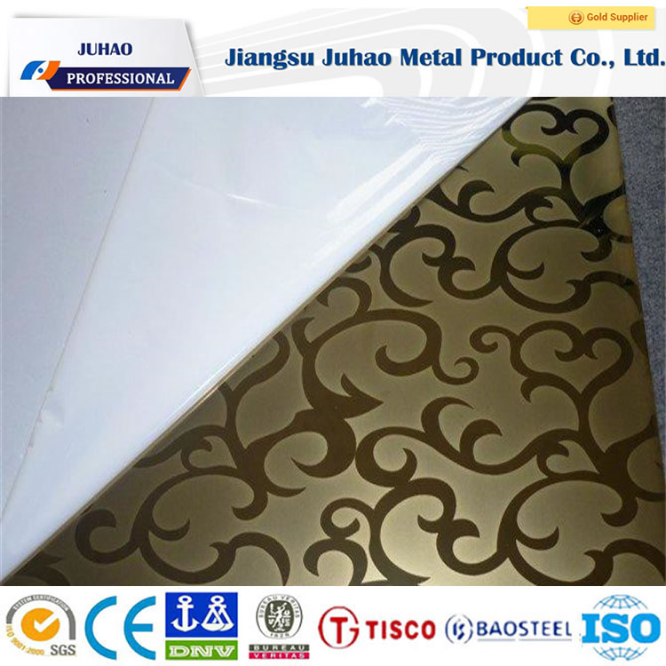 Mellow Art Etching 304 Color Decorative Stainless Steel Sheet/Plate with Facotry 022Cr17Ni12M02 SUS316L