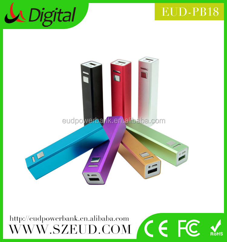 EUD-PB18 Power bank, chinese supplier Aluminium alloy Li-polmyer mili power bank