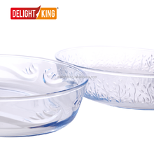 Delight King embossed glass baking tray / bakeware set / bake dishes / plate