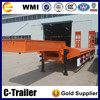 tri axles lowbed trailer cheap semi trailer for Africa