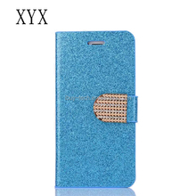 2017 HK Expo Booth No11K20 New products flip diamond bling leather case for samsung galaxy s7 edge cover with card holder