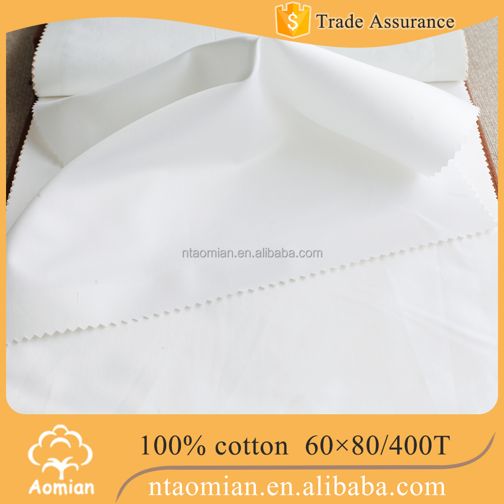 100% cotton satin bed sheet fabrics 400 t threads 60sx80s