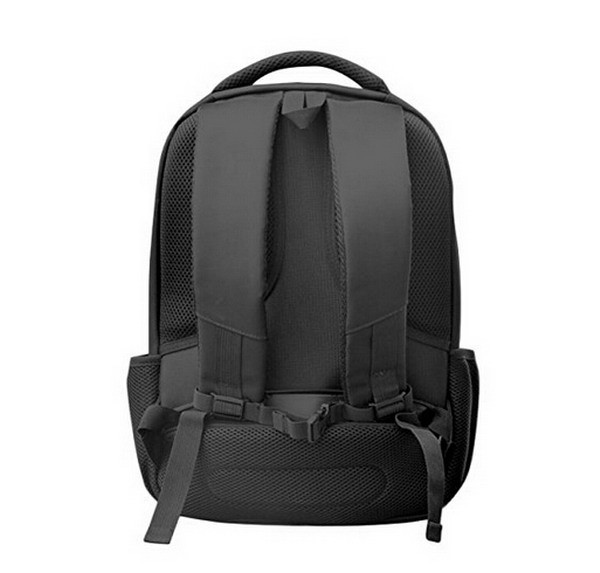 High Quality Black Nylon and Canvas Solar Backpack