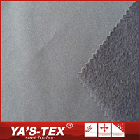Most popular products soft touch composite fleece TPU polyester twill laminated fabric