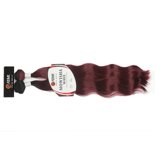 New 2pcs 14 16 18 20 inch heat resistant fibre flame retardant Karea natural wave synthetic hair bundles