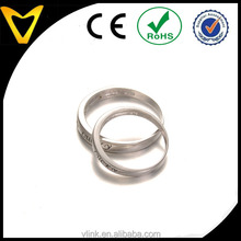Popular couples 925 silver wedding ring set,blank daily wearing basic lovers ring wedding ring silver