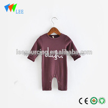 Wholesale plain baby romper cute infant soft 100% cotton baby bodysuit export to USA clothing