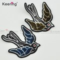 newest toothbrush sequin bird swallow felt custom patches embroidered WEFC-066