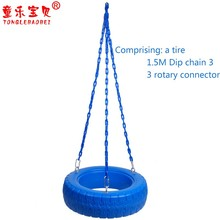 Plastic Tire Swing with PE Rope and Eye Bolt Set Playground and patio kids outdoor tire swing for children adilty