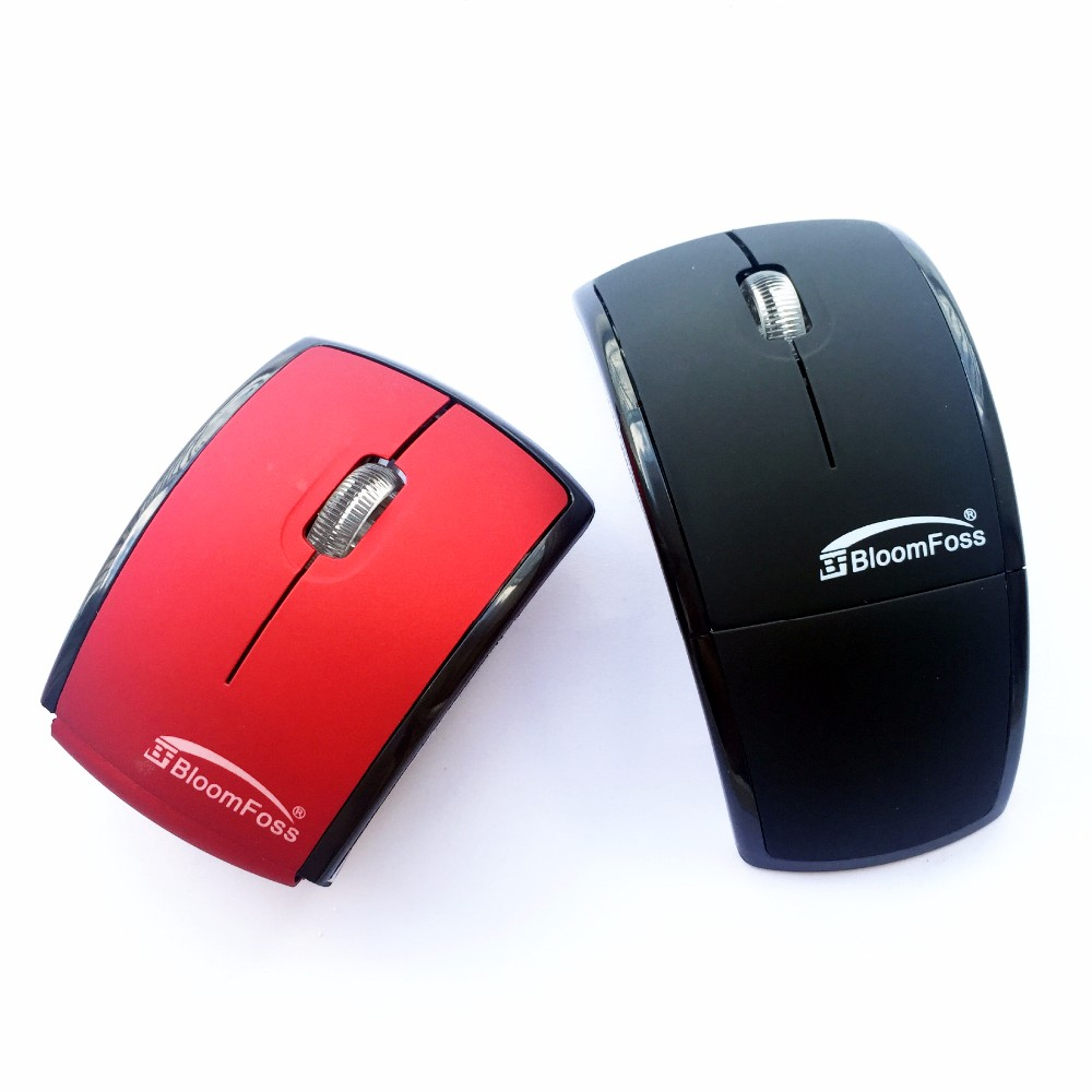 Promotional Multi Colors available Custom Logo Folding Wireless Mouse