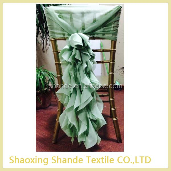 2015 fancy chiffon chair cover