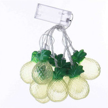 Decorative Outfit String Lights New Furit Lights Battery Operated Hot Sale Plastic Window Curtain Pineapple String Light