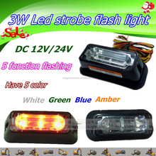 3W led flashing strobe light , car hazed big shining light bar , offroad flashing light bar