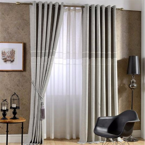 luxury curtains for room with attached voile plain fabric