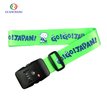 Wholesale custom printing adjustable luggage belt strap with Tsa lock and digital scale