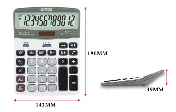 big screen calculator for office use aluminum panel calculator dual power and high quality calculator